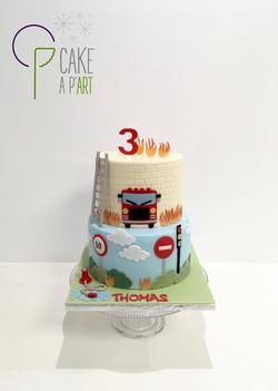 - Gâteau personnalisé anniversaire enfant - Thème Pompier