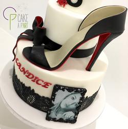 Décor modelage en sucre gâteaux personnalisés - Anniversaire Thème Glamour et talon aiguille