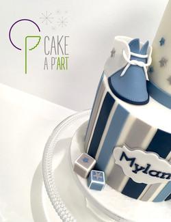 - Gâteau personnalisé anniversaire enfant - Thème Chaussons bébé