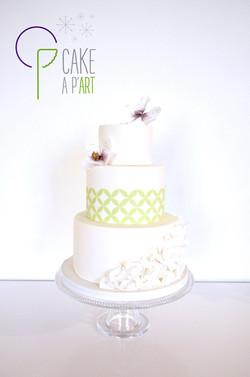 Wedding Cake Pièce montée Mariage - Thème Graphique et Orchidée