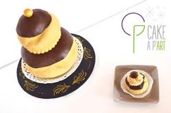 Gâteau sur mesure sculpté 3D anniversaire - Trompe l'oeil Religieuse Chocolat géante