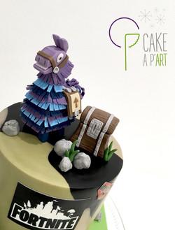 Décor modelage en sucre gâteaux personnalisés - Anniversaire Fortnite Modelage Pinata Lama