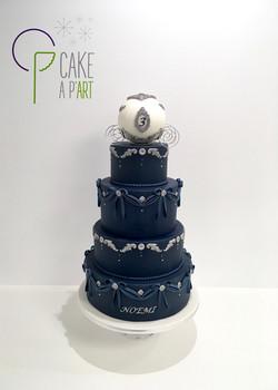- Gâteau personnalisé anniversaire enfant - Thème Cendrillon Bleu