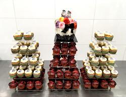 Gâteaux individuels personnalisés Mariage - Pièce montée cupcakes Thème Rétro