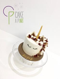 - Gâteau personnalisé anniversaire enfant - Thème Licorne automne