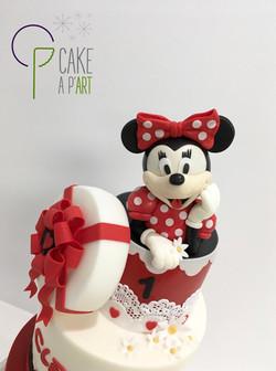Décor modelage en sucre gâteaux personnalisés - Anniversaire Thème Minnie