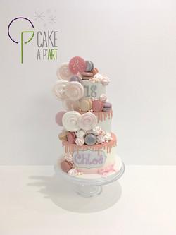 Gâteau sur mesure anniversaire adulte - Thème gourmand Drip Cake