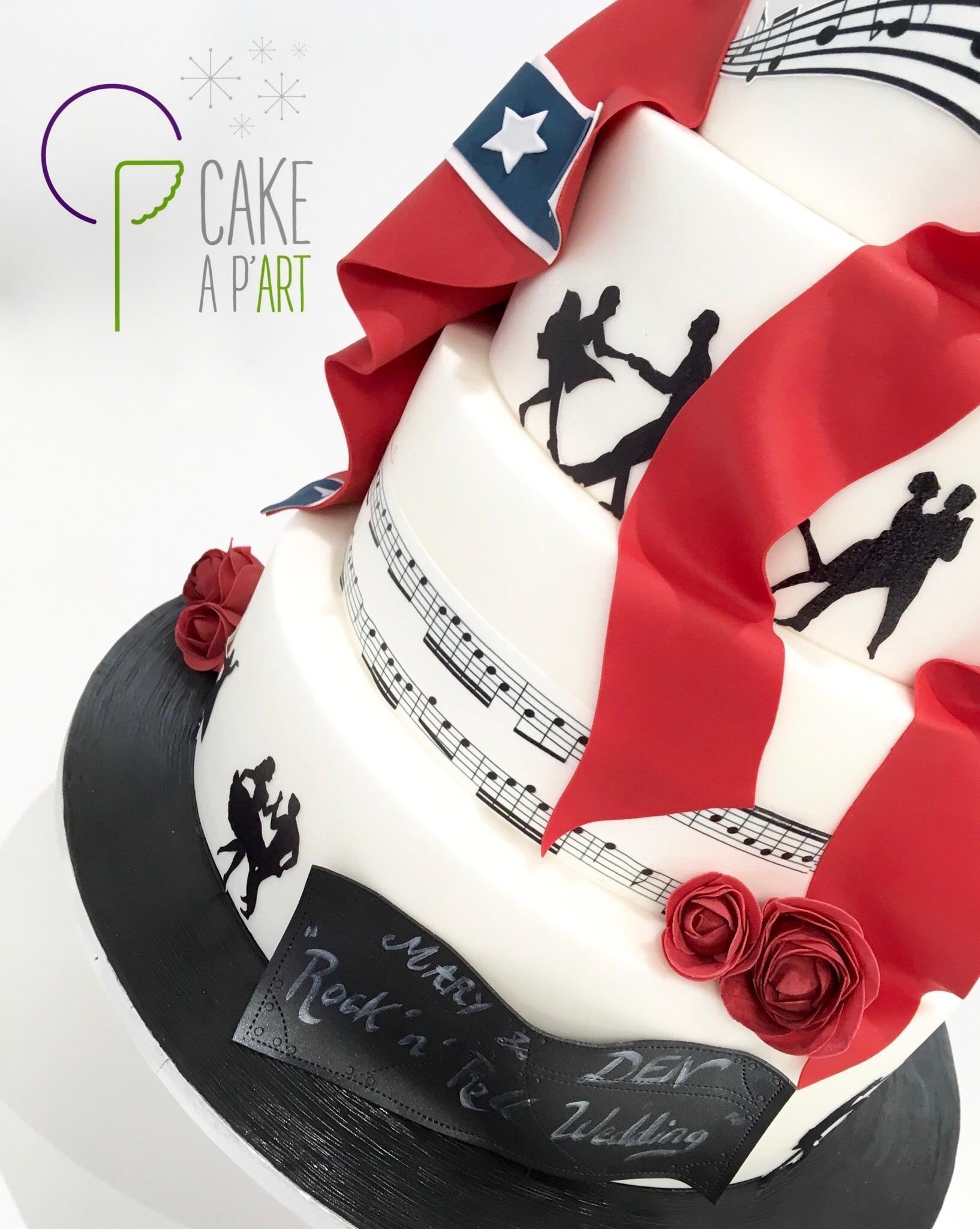 Wedding Cake Pièce montée Mariage - Thème Rock'n Roll Musique