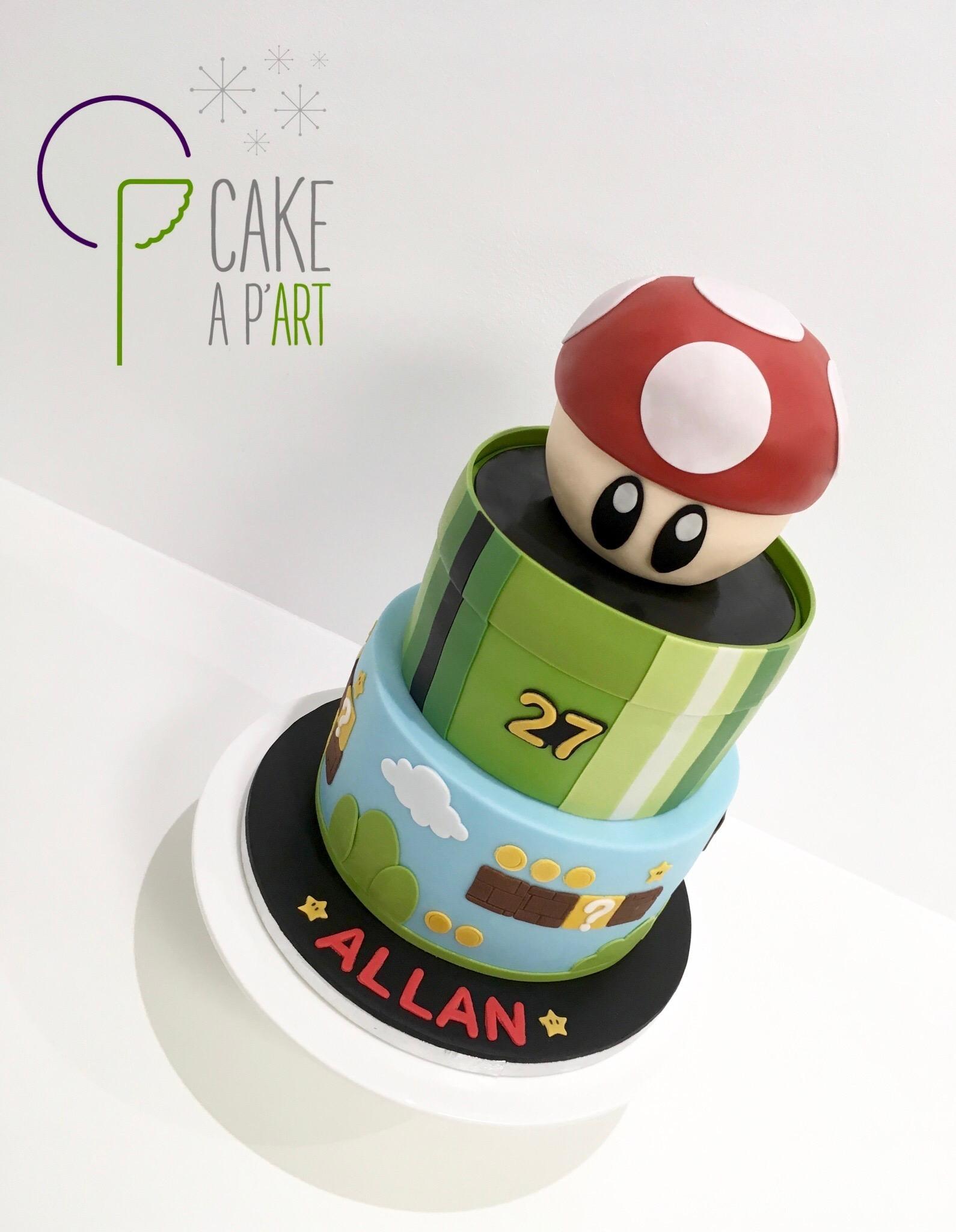 Gâteau sur mesure anniversaire adulte - Thème Mario Bros