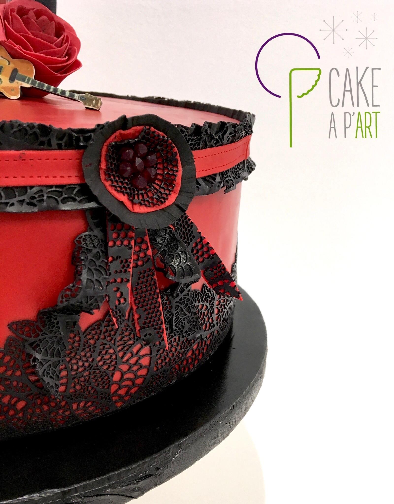 Gâteau sur mesure anniversaire adulte - Thème Cabaret et musique