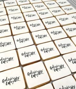 Gâteaux sur mesure Food Marketing Entreprise - Sablés logo Evènement Galeries Lafayette