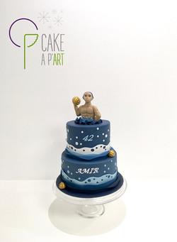 Gâteau sur mesure anniversaire adulte - Thème Waterpolo