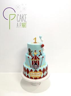 - Gâteau personnalisé anniversaire enfant - Thème Cirque