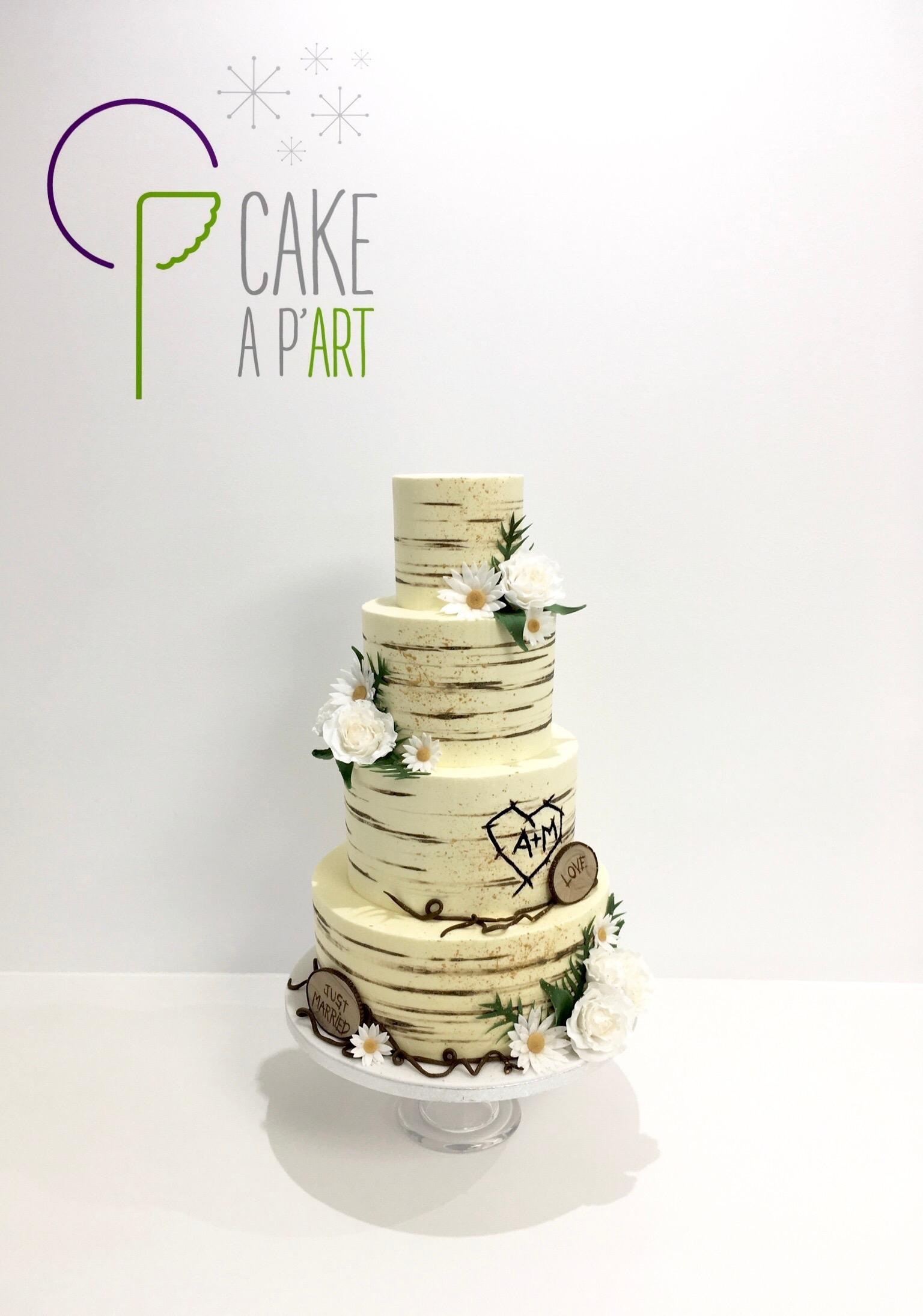 Nude Cake Thème Champêtre