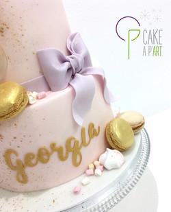 - Gâteau personnalisé anniversaire enfant - Thème Macarons et gourmandises