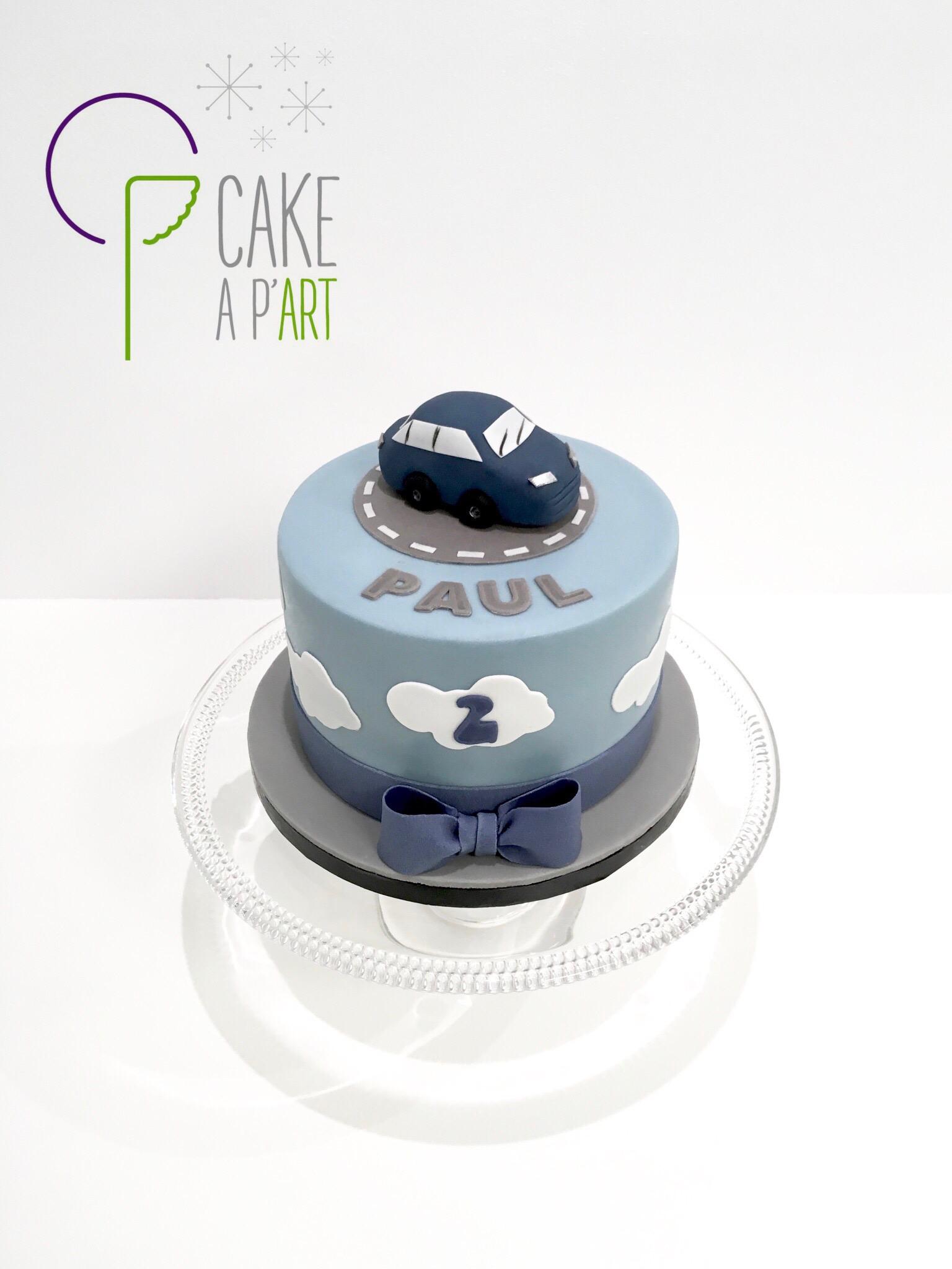 - Gâteau personnalisé anniversaire enfant - Thème Voiture