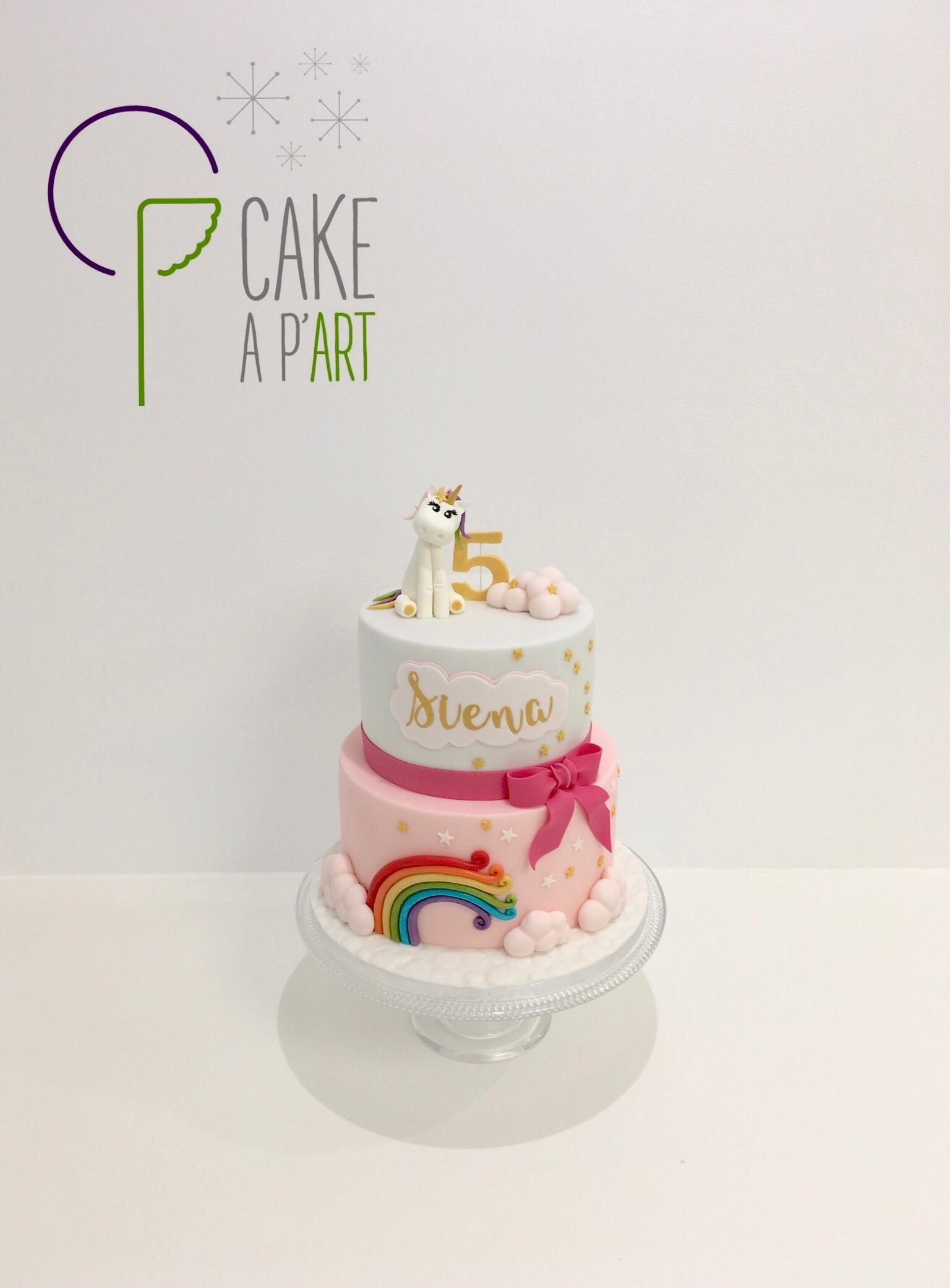 - Gâteau personnalisé anniversaire enfant - Thème Licorne bébé