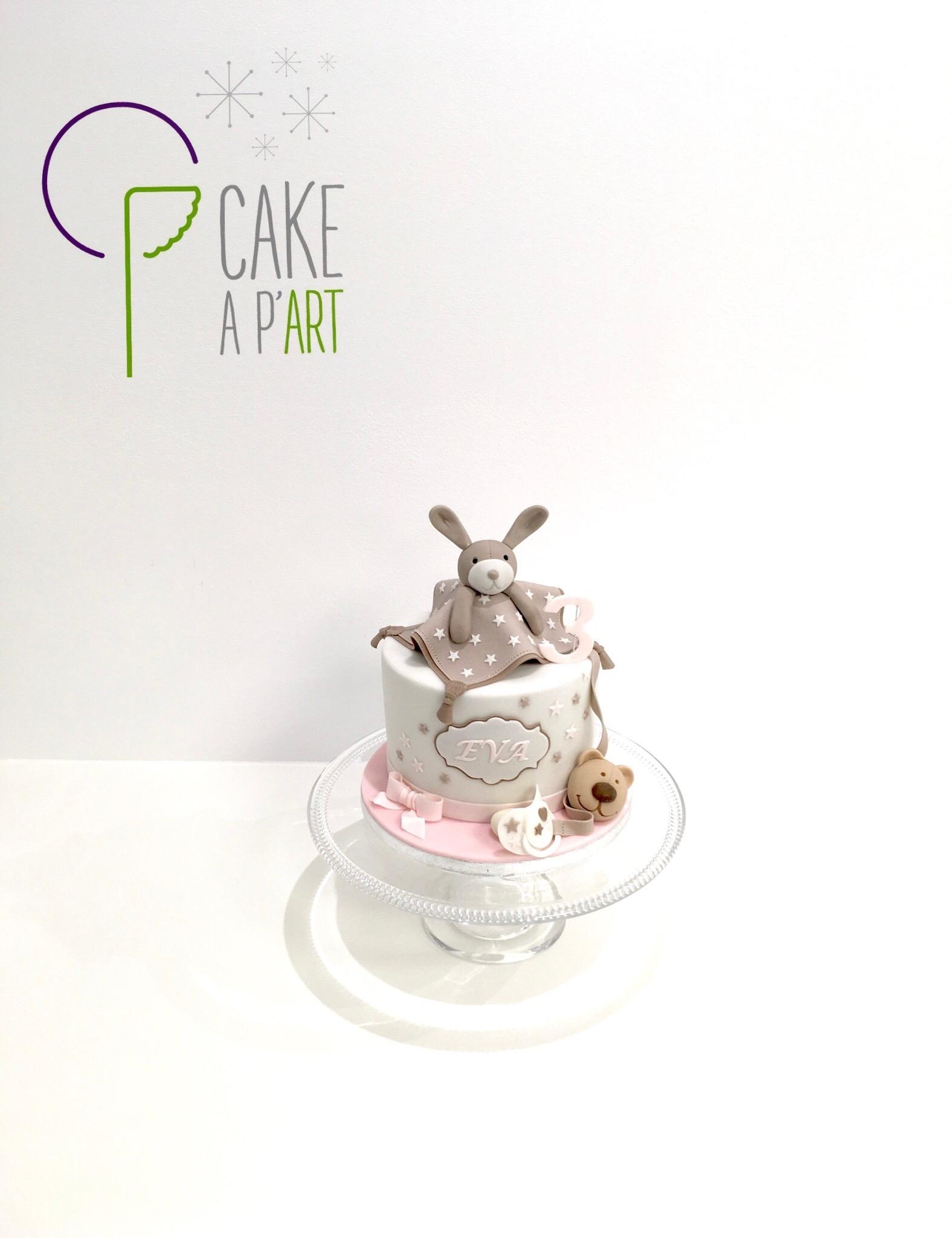 - Gâteau personnalisé anniversaire enfant - Thème Doudou lapin