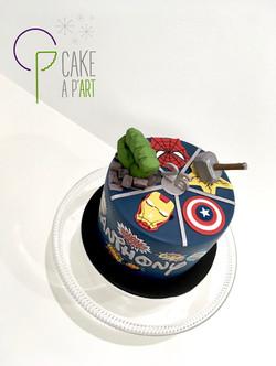 Décor modelage en sucre gâteaux personnalisés - Anniversaire Thème Avengers