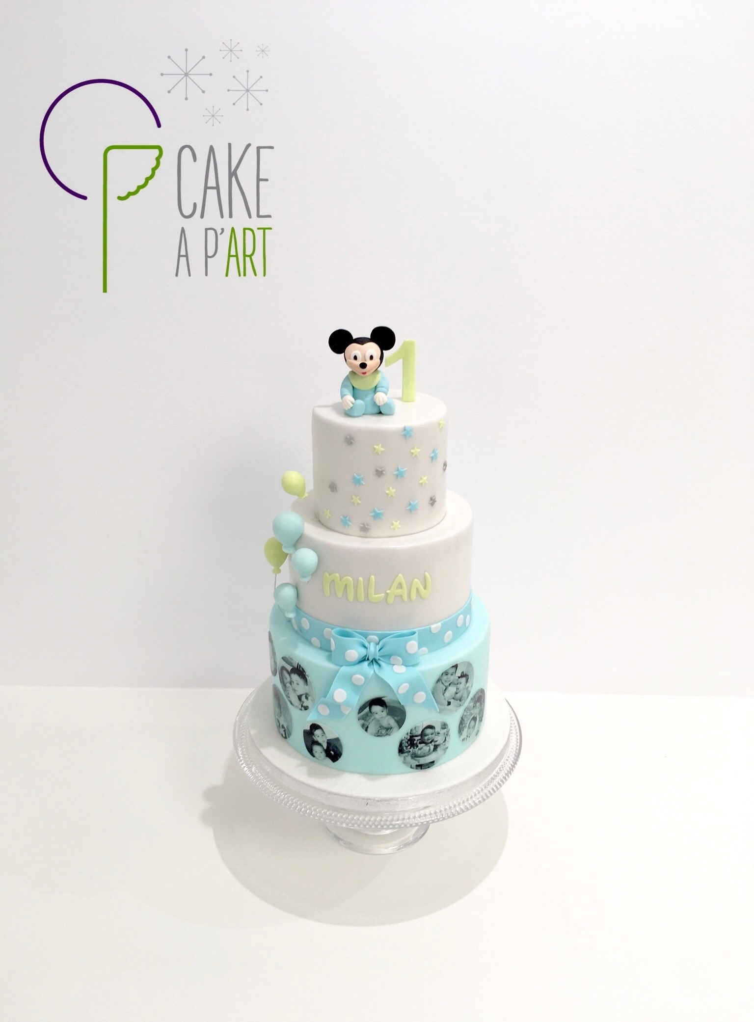 - Gâteau personnalisé anniversaire enfant - Thème Mickey bébé