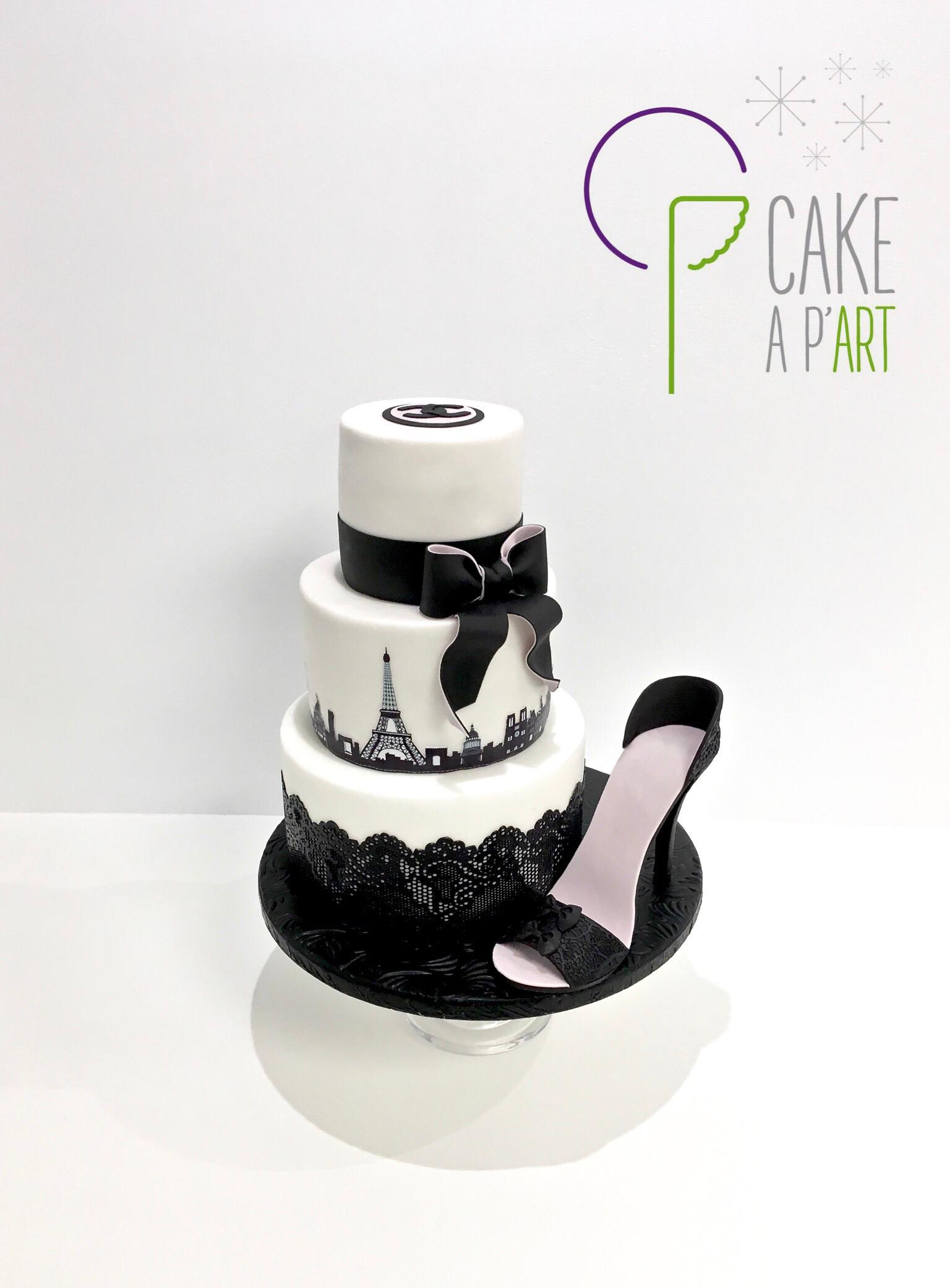 Gâteau sur mesure anniversaire adulte - Thème Talon aiguille Paris
