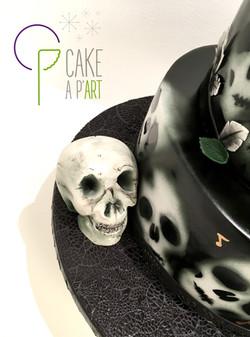 Décor modelage en sucre gâteaux personnalisés - Mariage Thème Badass Hard Rock Crâne