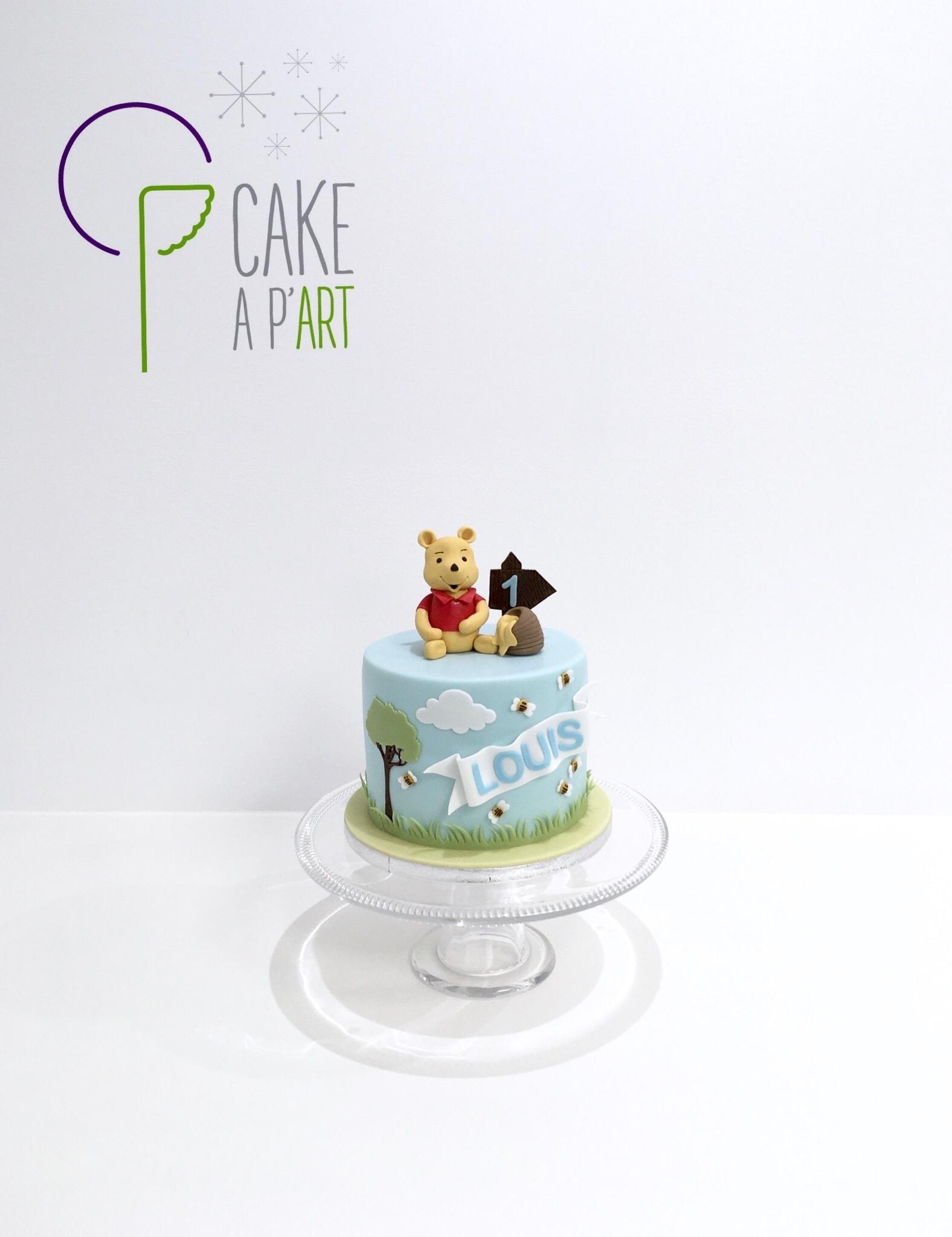 - Gâteau personnalisé anniversaire enfant - Thème Winnie l'ourson