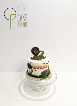 - Gâteau personnalisé anniversaire enfant - Thème Lion savane