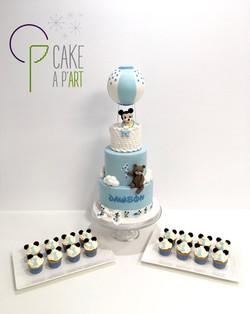 Gâteaux individuels personnalisés Anniversaire - Mini cupcakes Thème Mickey bébé
