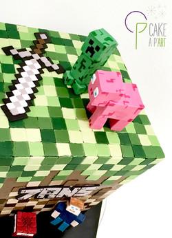 Décor modelage en sucre gâteaux personnalisés - Anniversaire Thème Minecraft