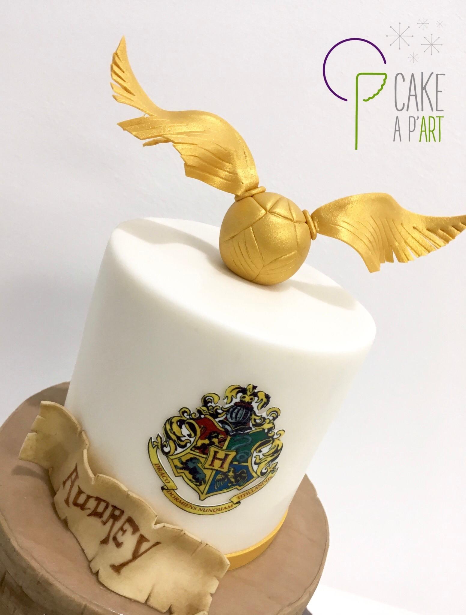 Décor modelage en sucre gâteaux personnalisés - Anniversaire Thème Harry Potter Vif d'or