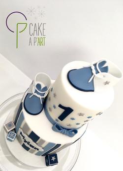 Décor modelage en sucre gâteaux personnalisés - Anniversaire Thème Naissance chaussons de bébé