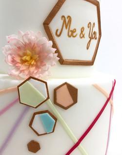 Wedding Cake Pièce montée Mariage - Thème Graphique Pastel