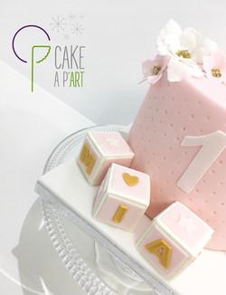 - Gâteau personnalisé anniversaire enfant - Thème Princesse et ourson