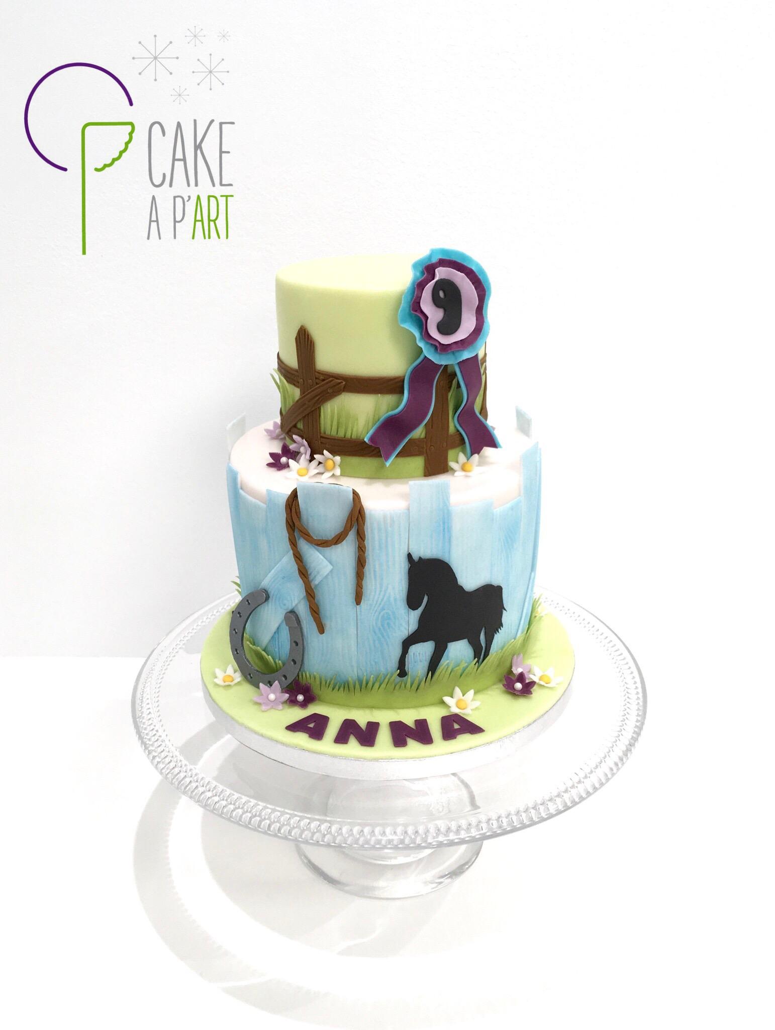 - Gâteau personnalisé anniversaire enfant - Thème Cheval