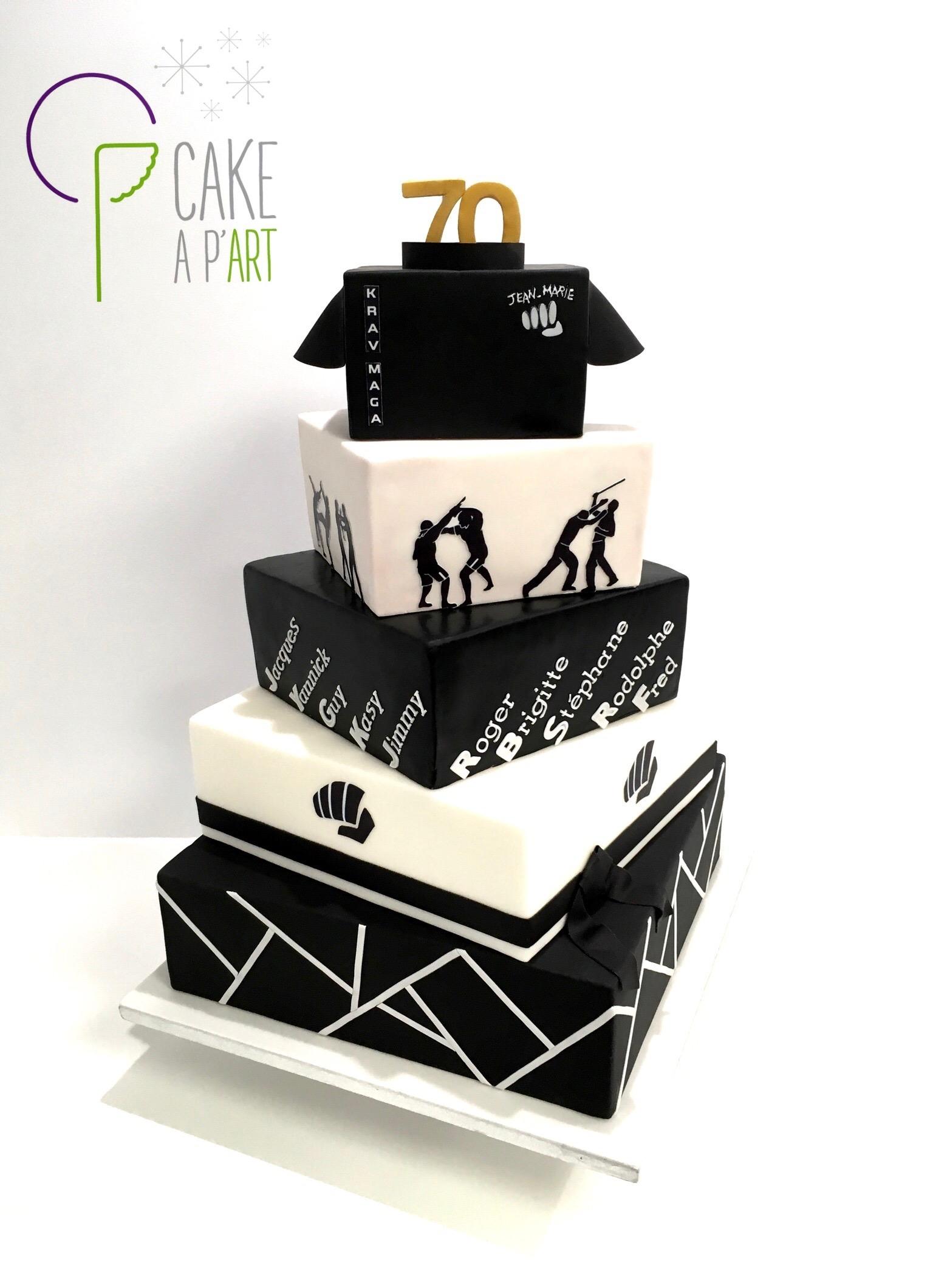 Gâteau sur mesure anniversaire adulte - Thème Krav Maga