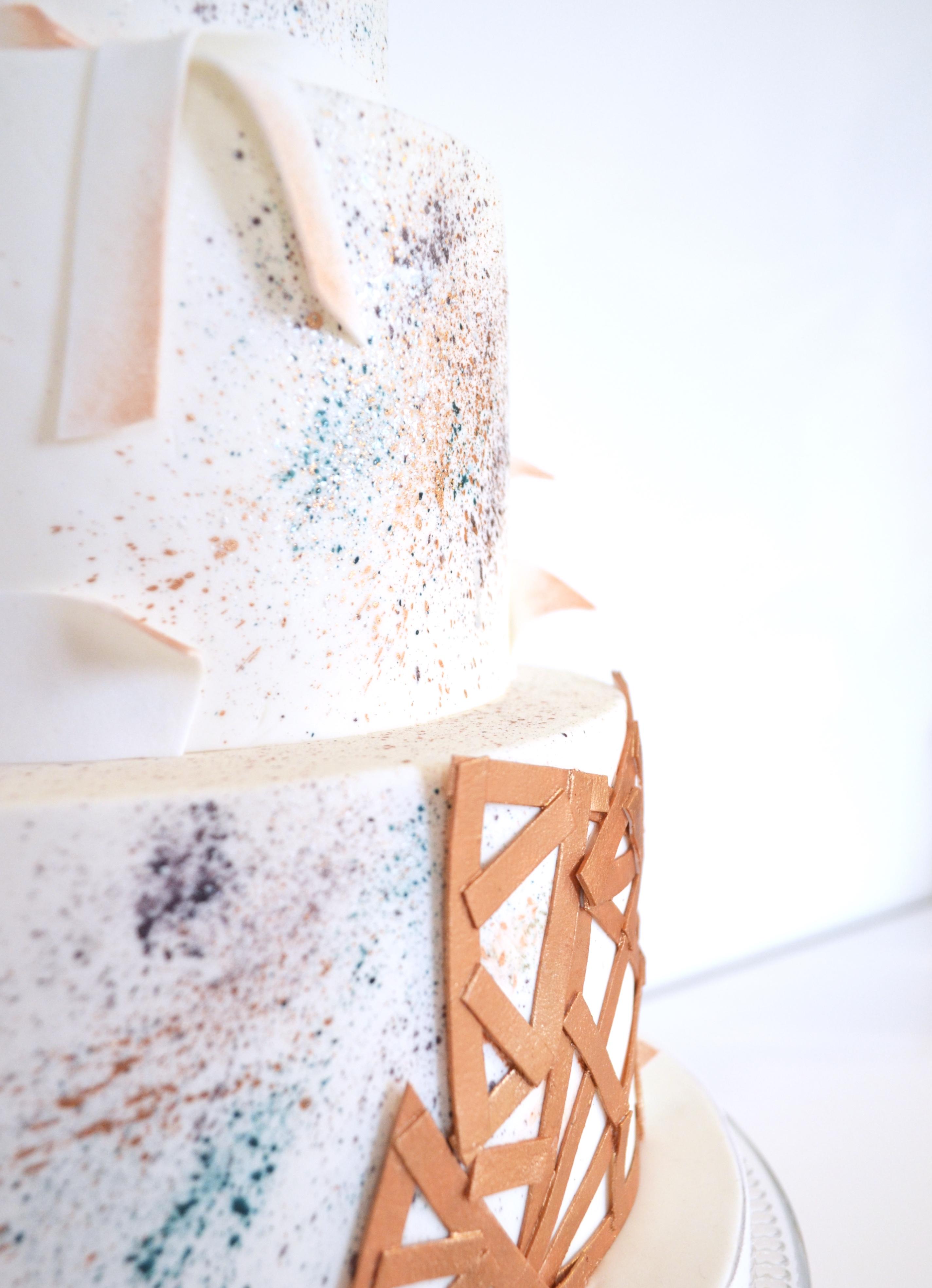 Gâteau Mariage Origami - Cakeapart