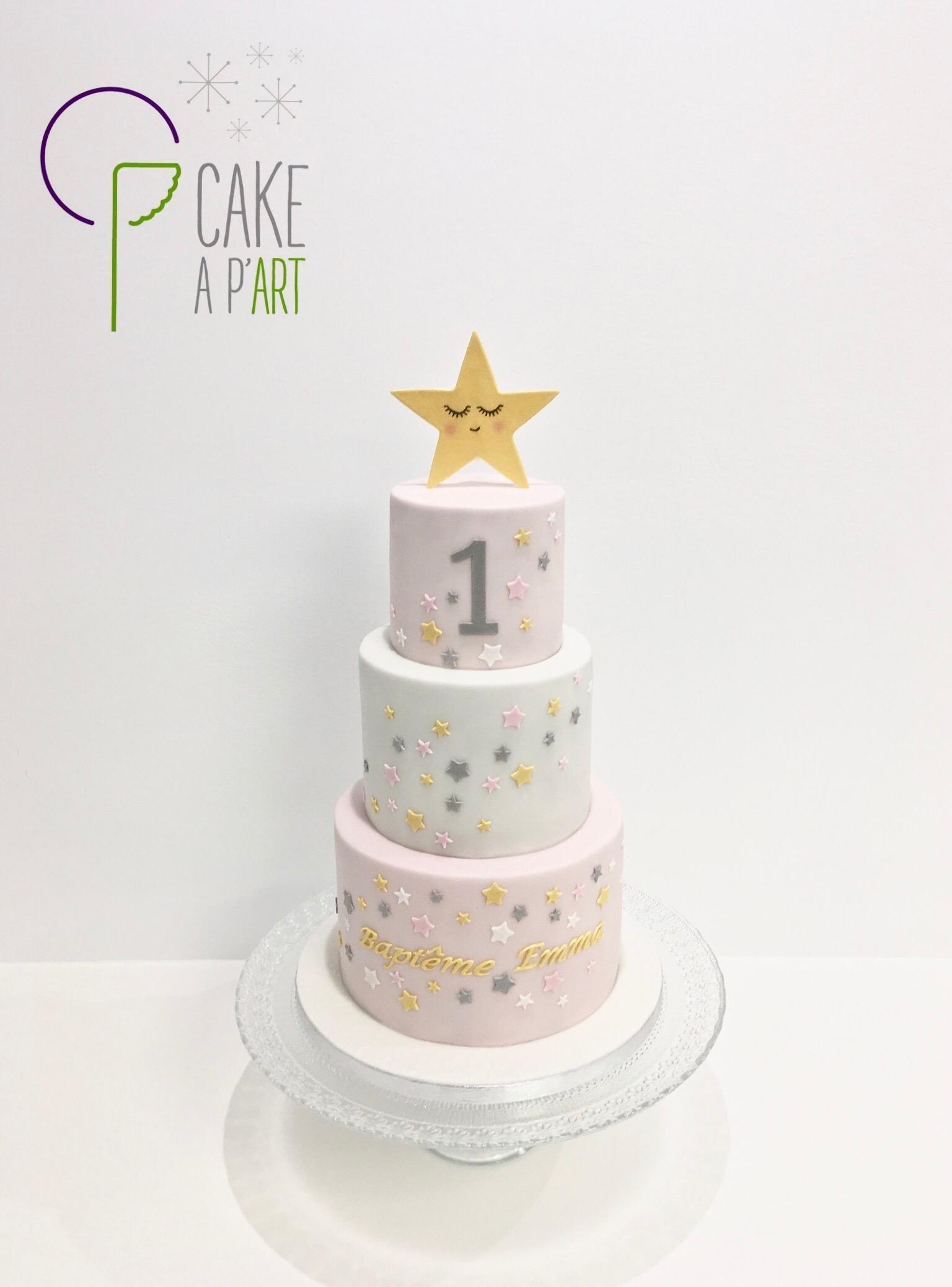 - Gâteau personnalisé anniversaire enfant - Thème Etoiles