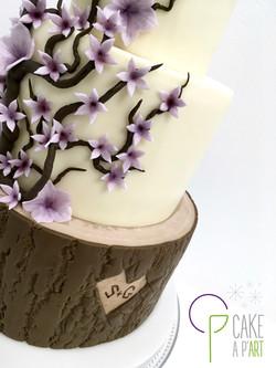 Décor en sucre gâteaux personnalisés - Mariage Fleurs de cerisier