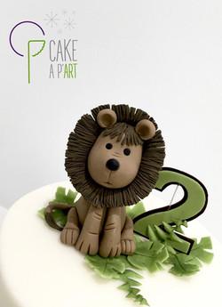 Décor modelage en sucre gâteaux personnalisés - Anniversaire Thème Savane animaux Lion