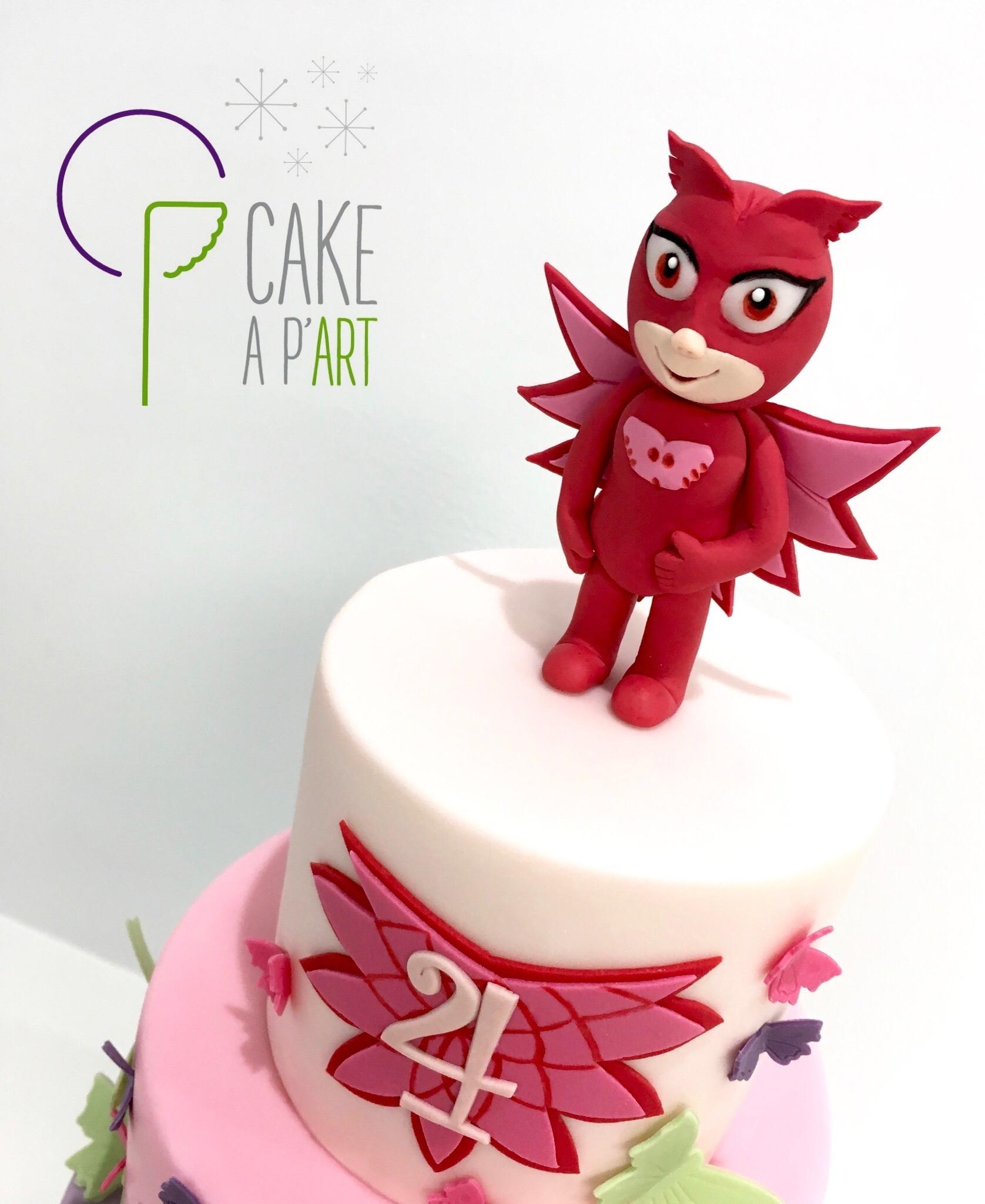 Décor modelage en sucre gâteaux personnalisés - Anniversaire Thème Pyjamasques Bibou