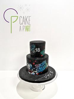 Gâteau sur mesure anniversaire adulte - Thème Suicide squad