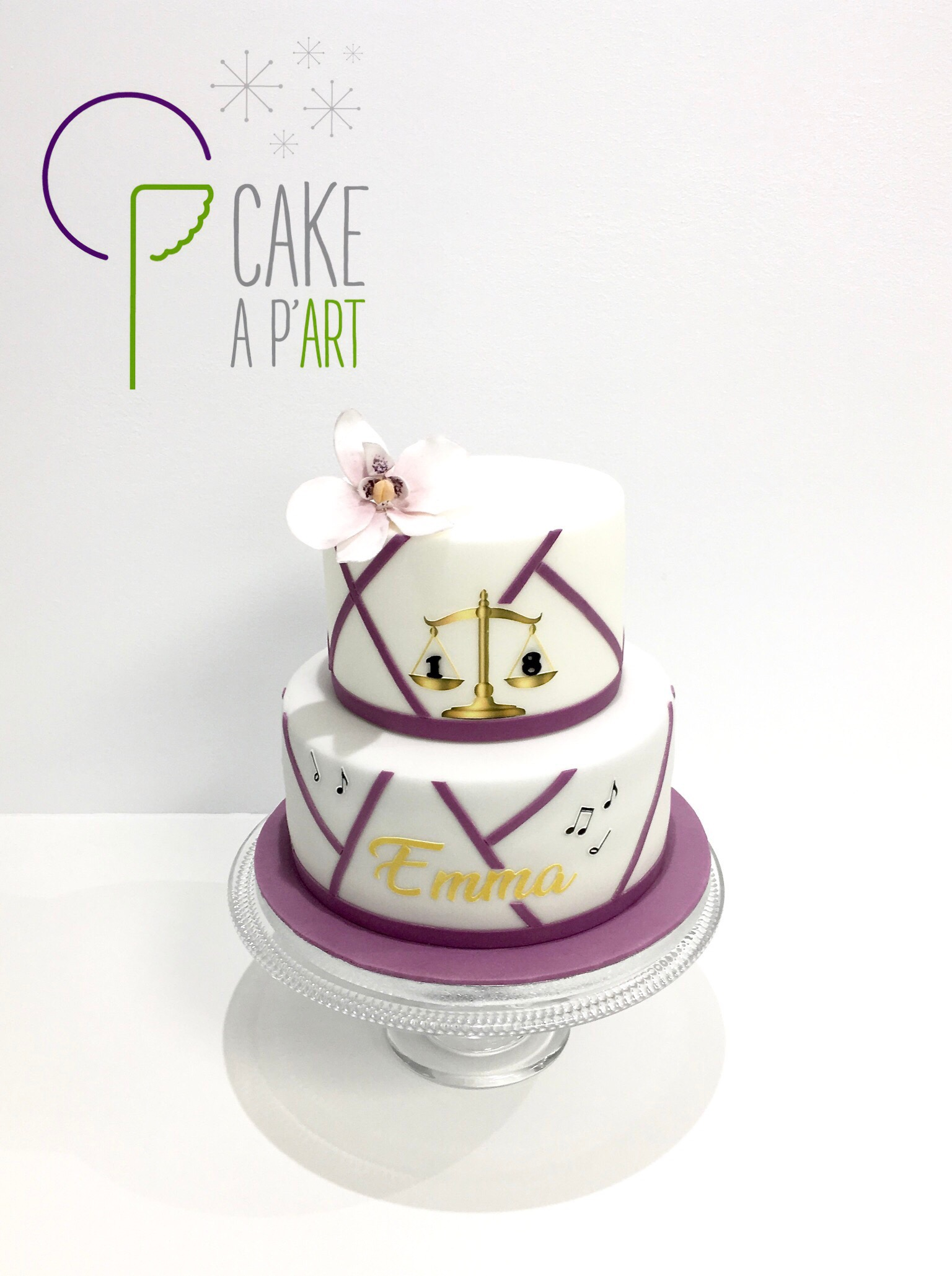 Gâteau sur mesure anniversaire adulte - Thème Danse et Droit