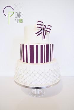 Wedding Cake Pièce montée Mariage - Thème Plumes et Violet graphique