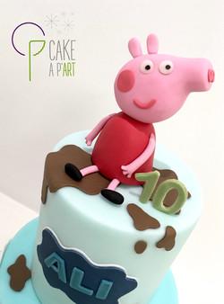Décor modelage en sucre gâteaux personnalisés - Anniversaire Thème Peppa Pig