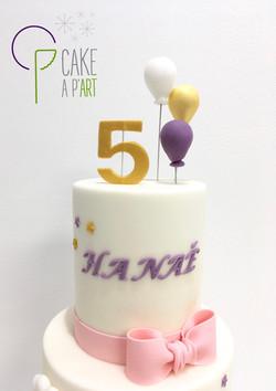 - Gâteau personnalisé anniversaire enfant - Thème Arc en ciel