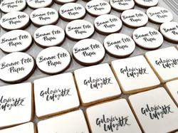 Gâteaux sur mesure Food Marketing Entreprise - Sablés logo Fête des pères Galeries Lafayette