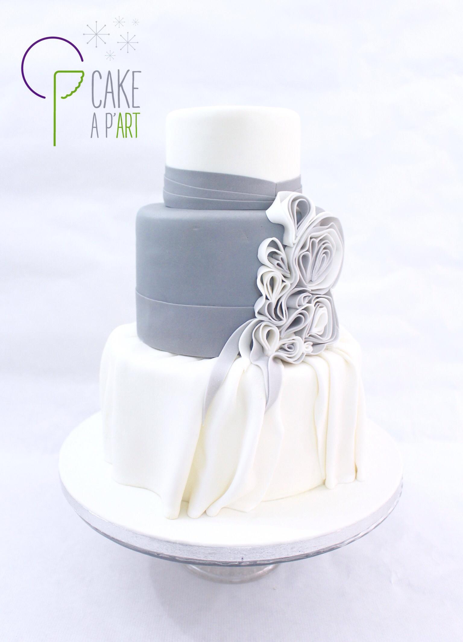 Gâteau Mariage Drapé - Cakeapart