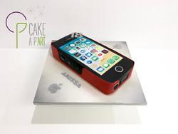 Gâteau sur mesure sculpté 3D anniversaire - Trompe l'oeil iPhone