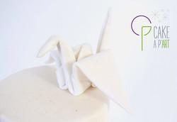 Décor modelage en sucre gâteaux personnalisés - Mariage Thème Origami graphique